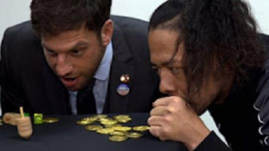 Drew Gulak Teaches WWE Superstars How To Play Dreidel Game