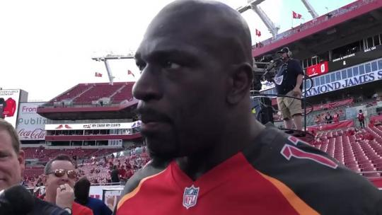 Titus O'Neil Talks Deep Ties To Tampa At Bucs NFL Game Ahead Of WrestleMania 36 At Raymond James Stadium (VIDEO)